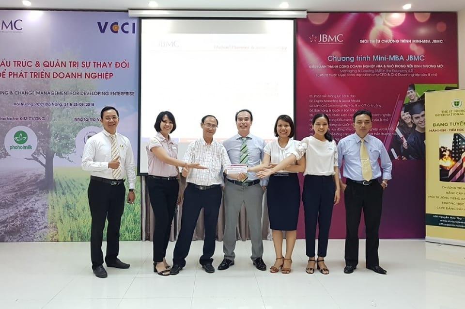VCCI-JBMC Tái cấu trúc & Quản trị sự Thay đổi - Khóa 1 ngày 24,25/08/2018